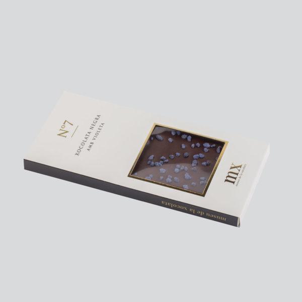 Tableta de Chocolate Negro con Violeta